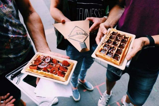 Everything on the  menu at French Waffle is under €10