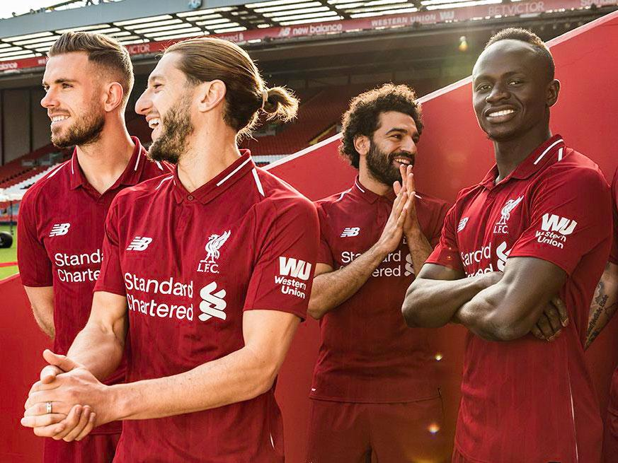 official photos 313f0 235d7 Liverpool reveal new 'red pepper' home kit for 2018/19 ...
