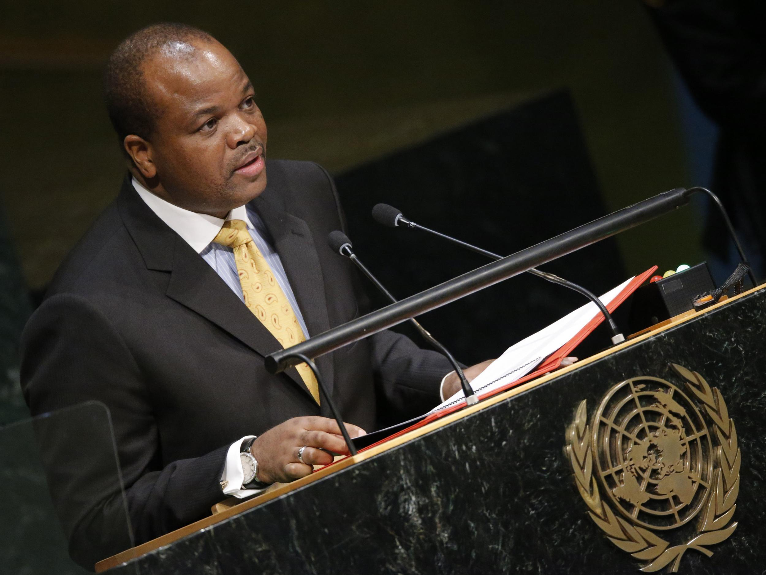 Swaziland king officially renames country Kingdom of