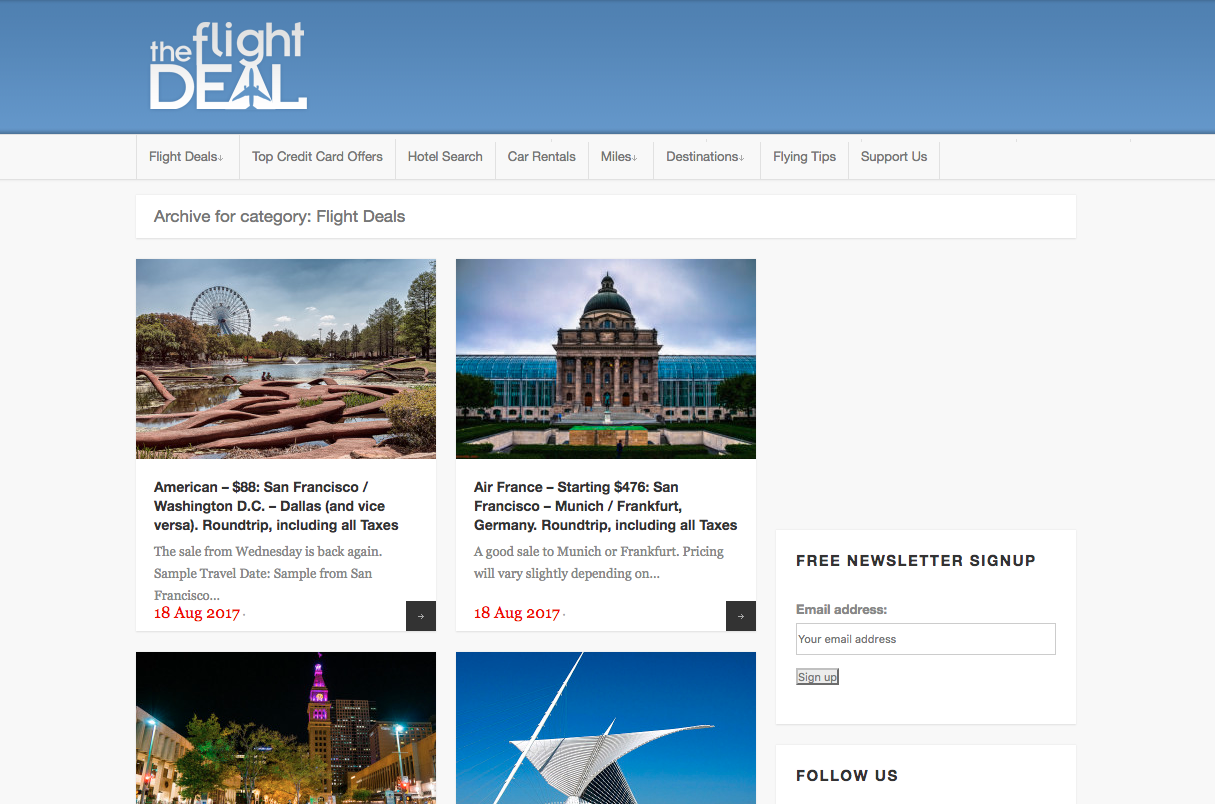 The Flight Deal >> Three Lesser Known Websites That Will Save You A Ton Of Money On