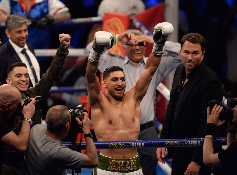 Amir Khan returned to the ring with a dominant performance