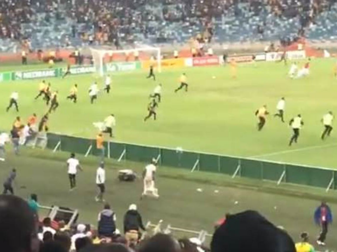 South African security guard seriously injured after Kaizer Chiefs riot