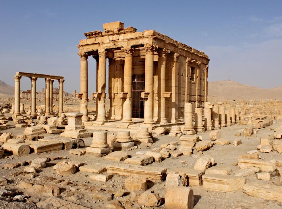 The ancient city of Palmyra, outside of Homs, before the war