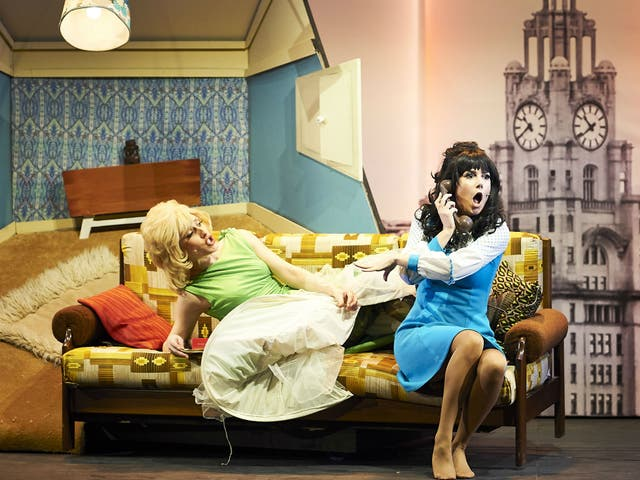 Nicola Munns and Lucinda Lawrence in 'The Liver Birds Flying Home'