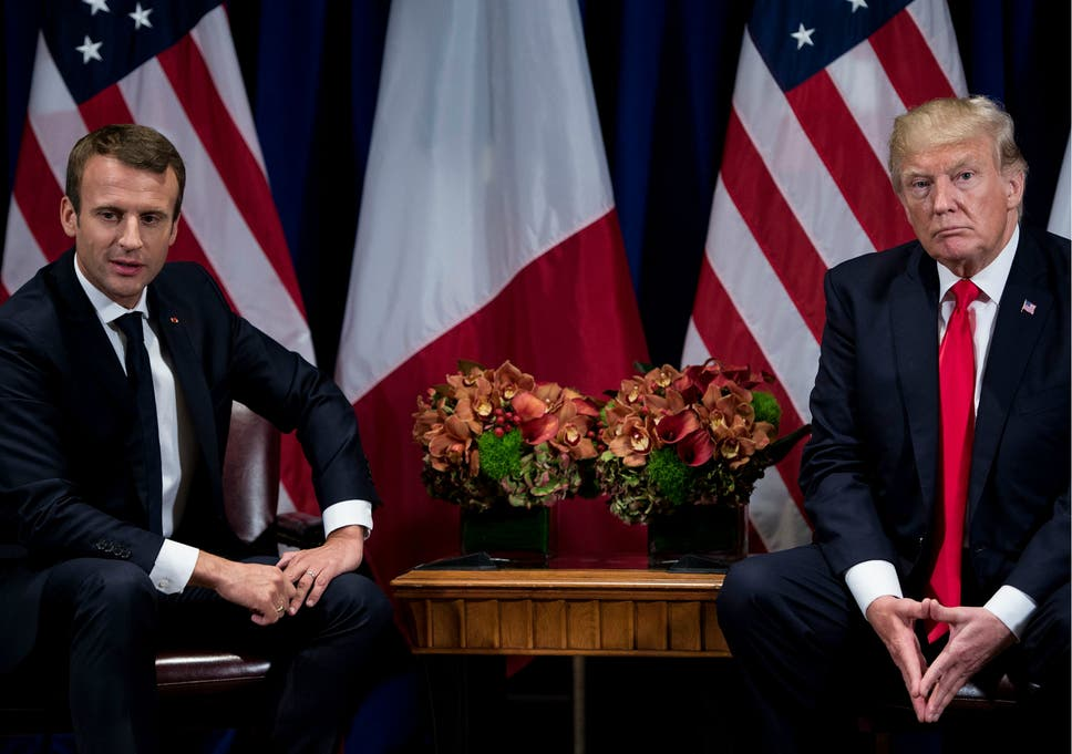 Macron To Warn Trump Not To Leave Iran Nuclear Deal Because There Is