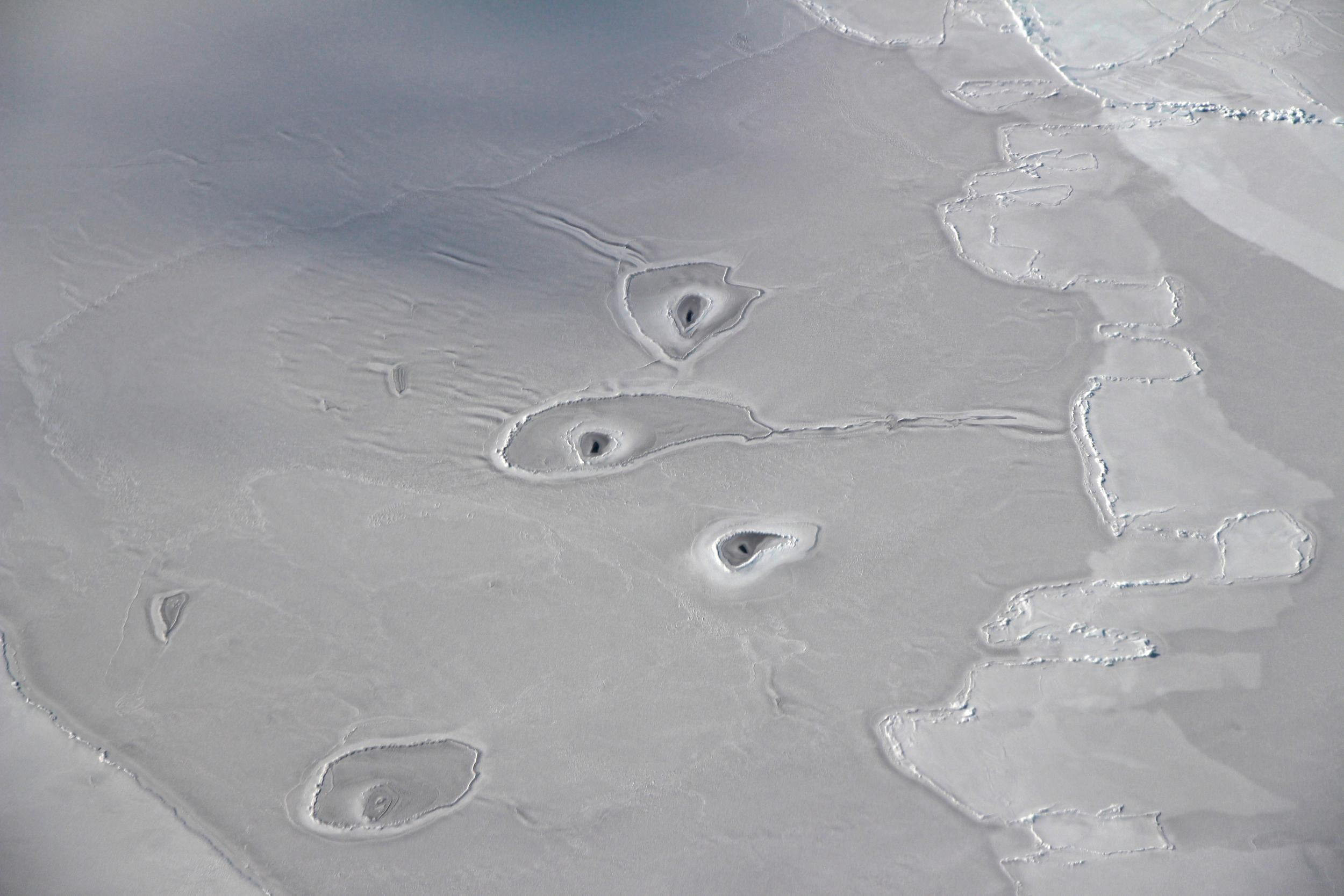 Nasa scientists baffled by unexplained strange shapes found in the Arctic