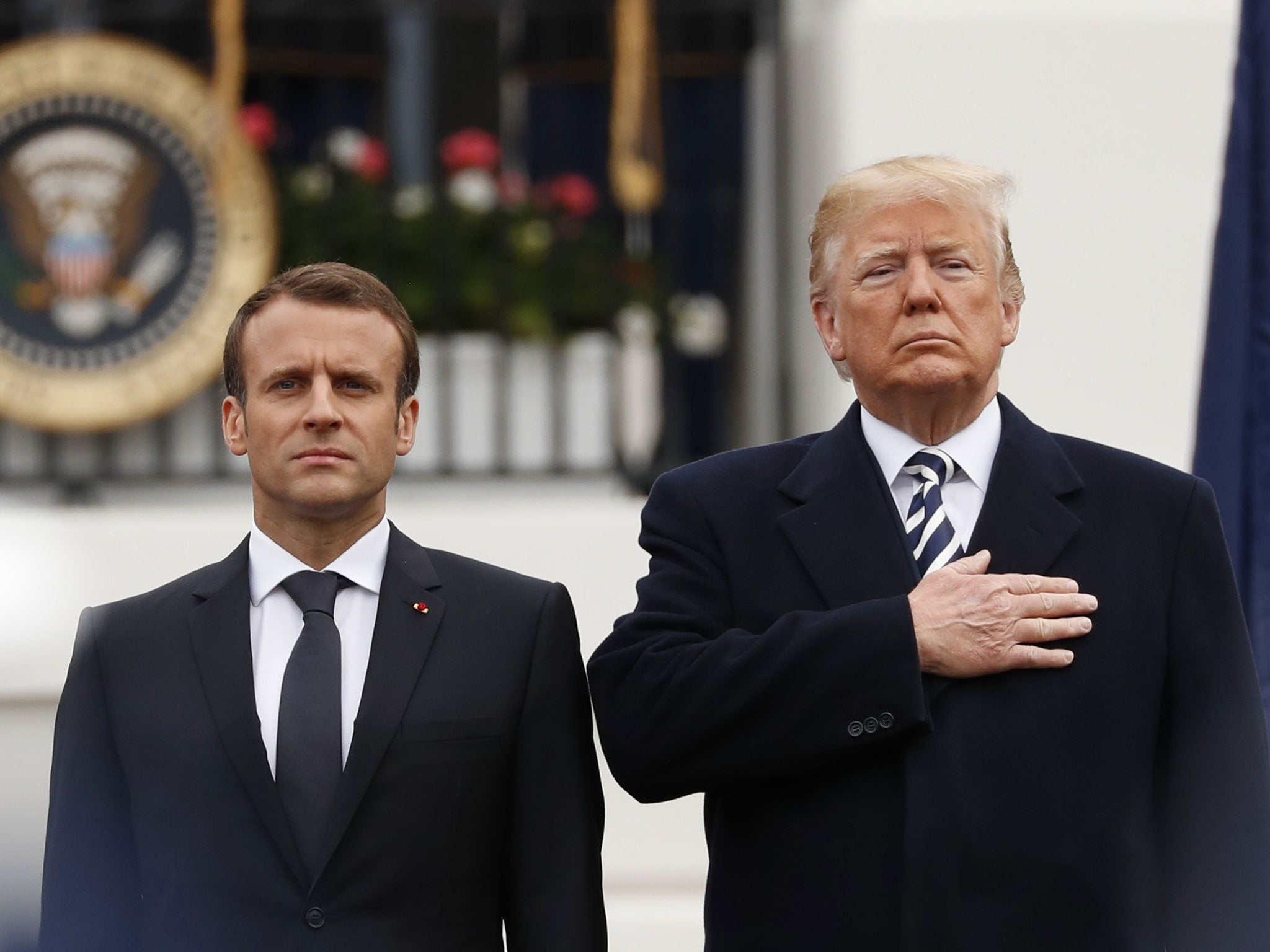 Macron's second day visiting Trump: French president proposes 'new' Iran  nuclear deal in gamble to keep USA on board, as it happened   The  Independent