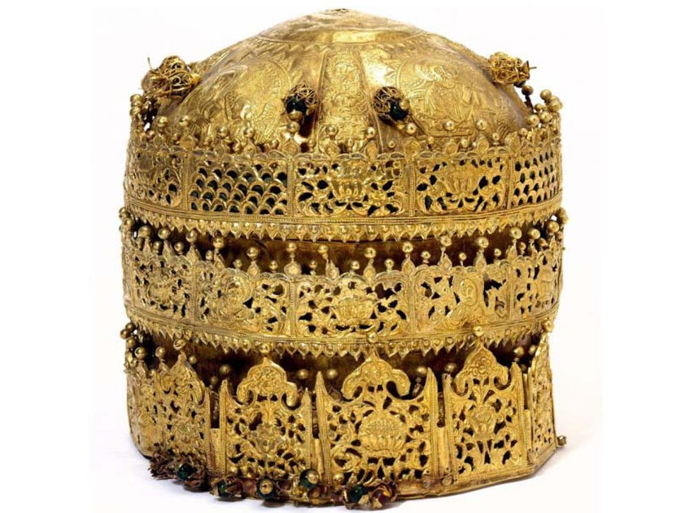 A crown, probably made in Gondar, Ethiopia, around 1740