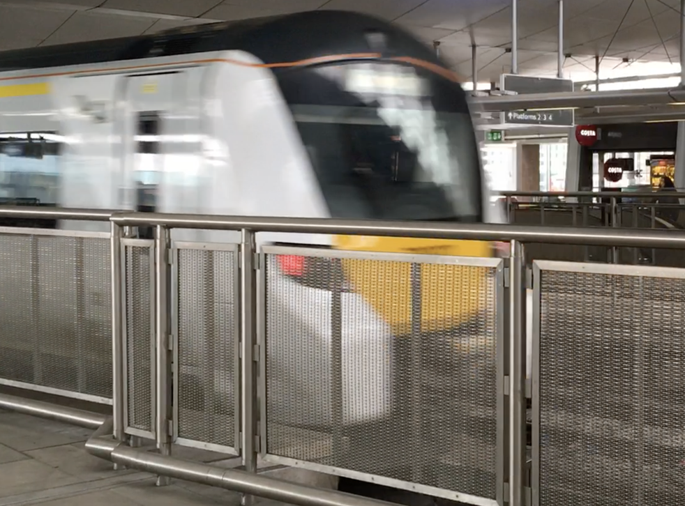 Through train: Thameslink service arriving at London Blackfriars, at the heart of the Thameslink network