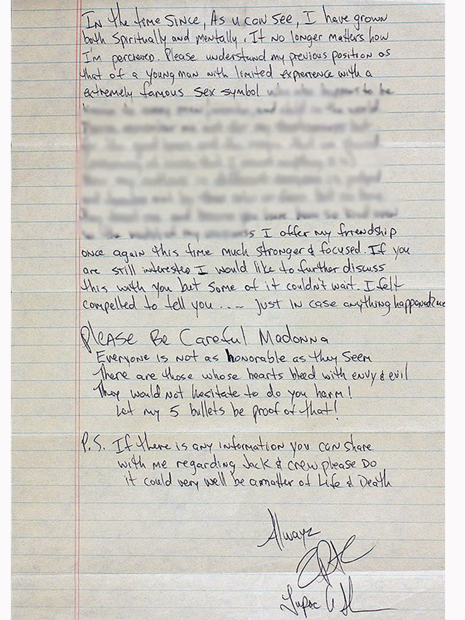 Tupacs Break Up Letter To Madonna In Full The Independent
