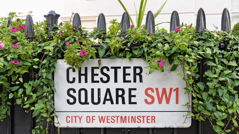 The grand townhouse is on Chester Square in Belgravia