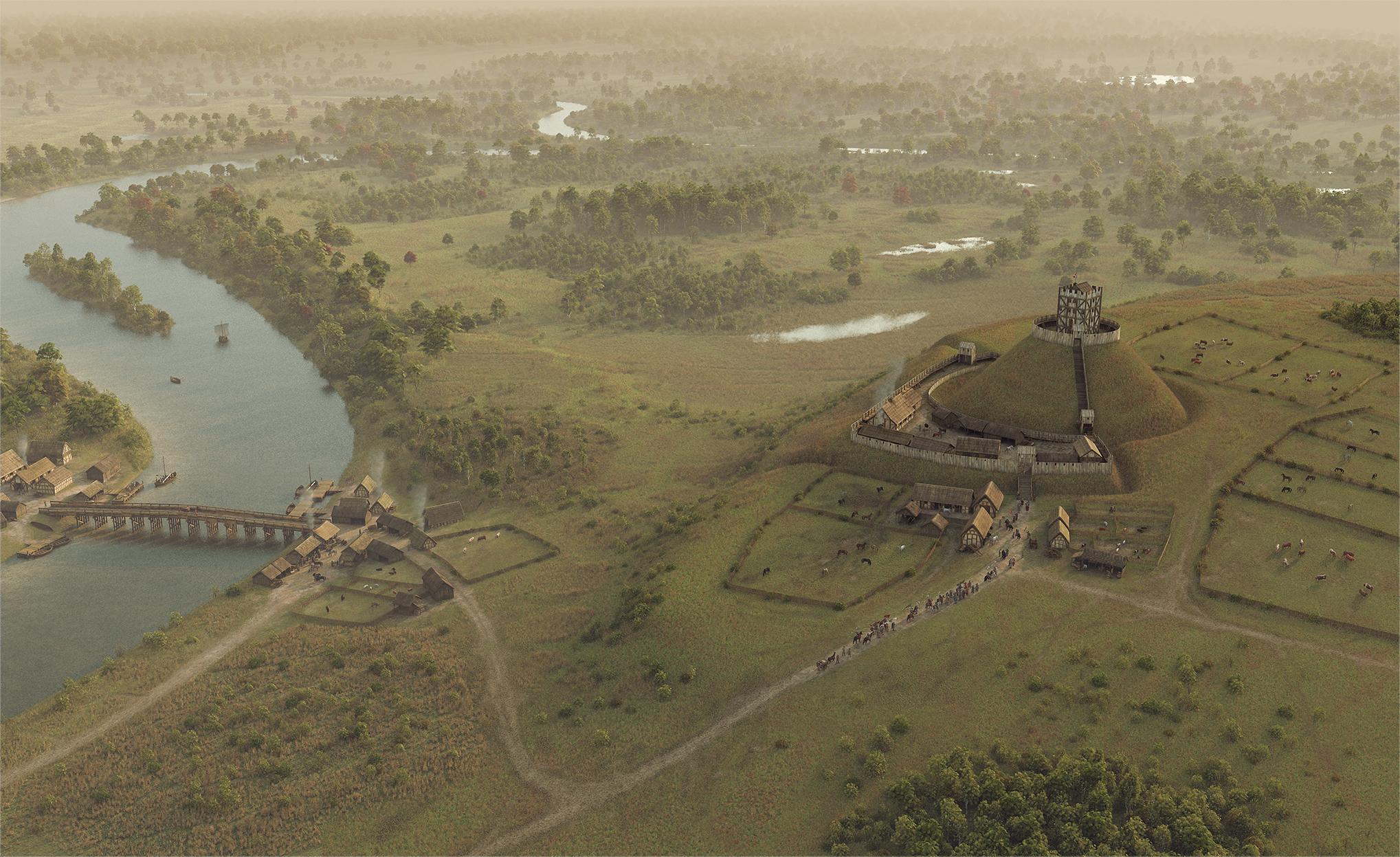 Fascinating images show original Windsor Castle after it was built t…