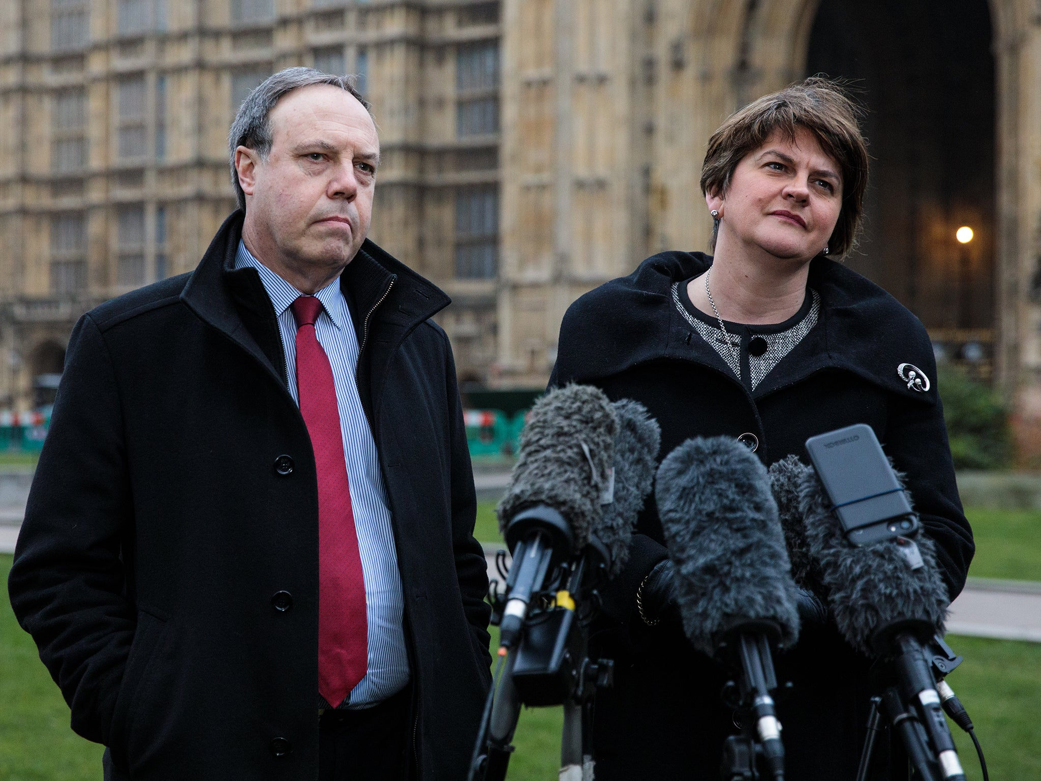 fe96ef28e54 DUP threaten to torpedo Theresa May's Brexit proposals and say they could  vote with Labour | The Independent