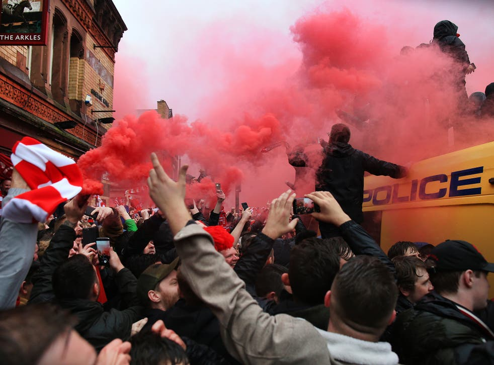A group of Roma fans attacked Liverpool supporters ahead of kick-off