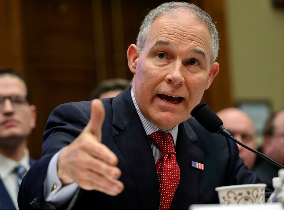 The Oversight Committee is conducting an investigation of spending and management decisions made by Mr Pruitt since he took charge of the EPA