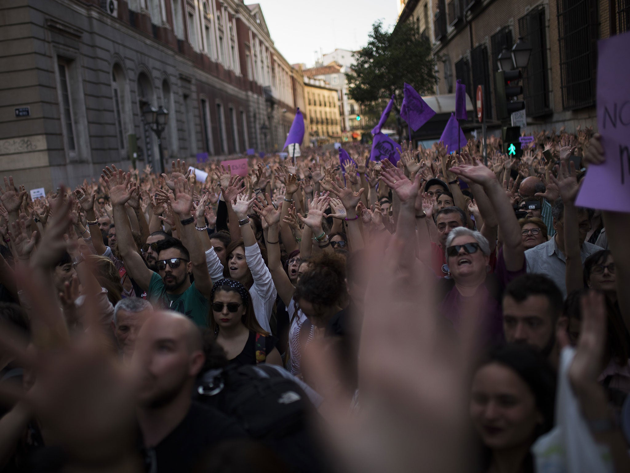 Huge protests as Spain jails 'wolf pack' gang for sex abuse, but acquits men of rape