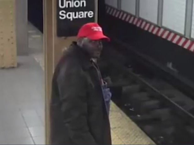 Suspect wearing  Make America Great Again  hat accused of pushing Hispanic  man on train tracks arrested  b157e0a4222d