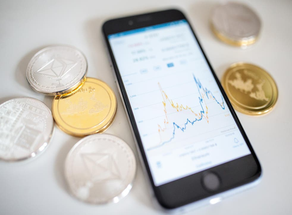 A smartphone displaying the current price chart for ethereum on April 25, 2018 in London, England. Cryptocurrency markets began to recover this month following a massive crash during the first quarter of 2018, seeing more than $550 billion wiped from the total market capitalisation.