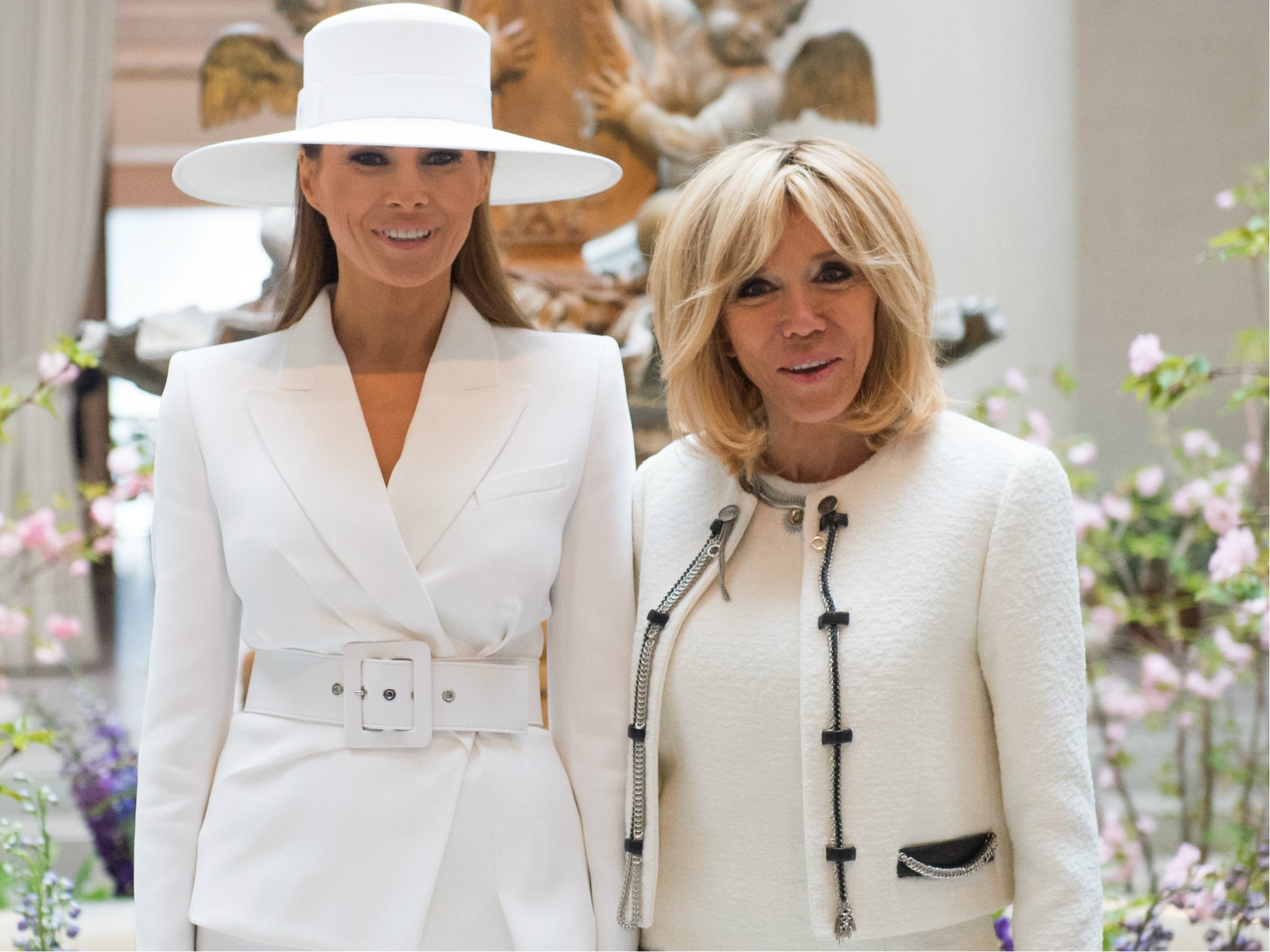 Brigitte Macron Says Melania Trump Is Really Fun But Can T Even Go Outside The Independent The Independent