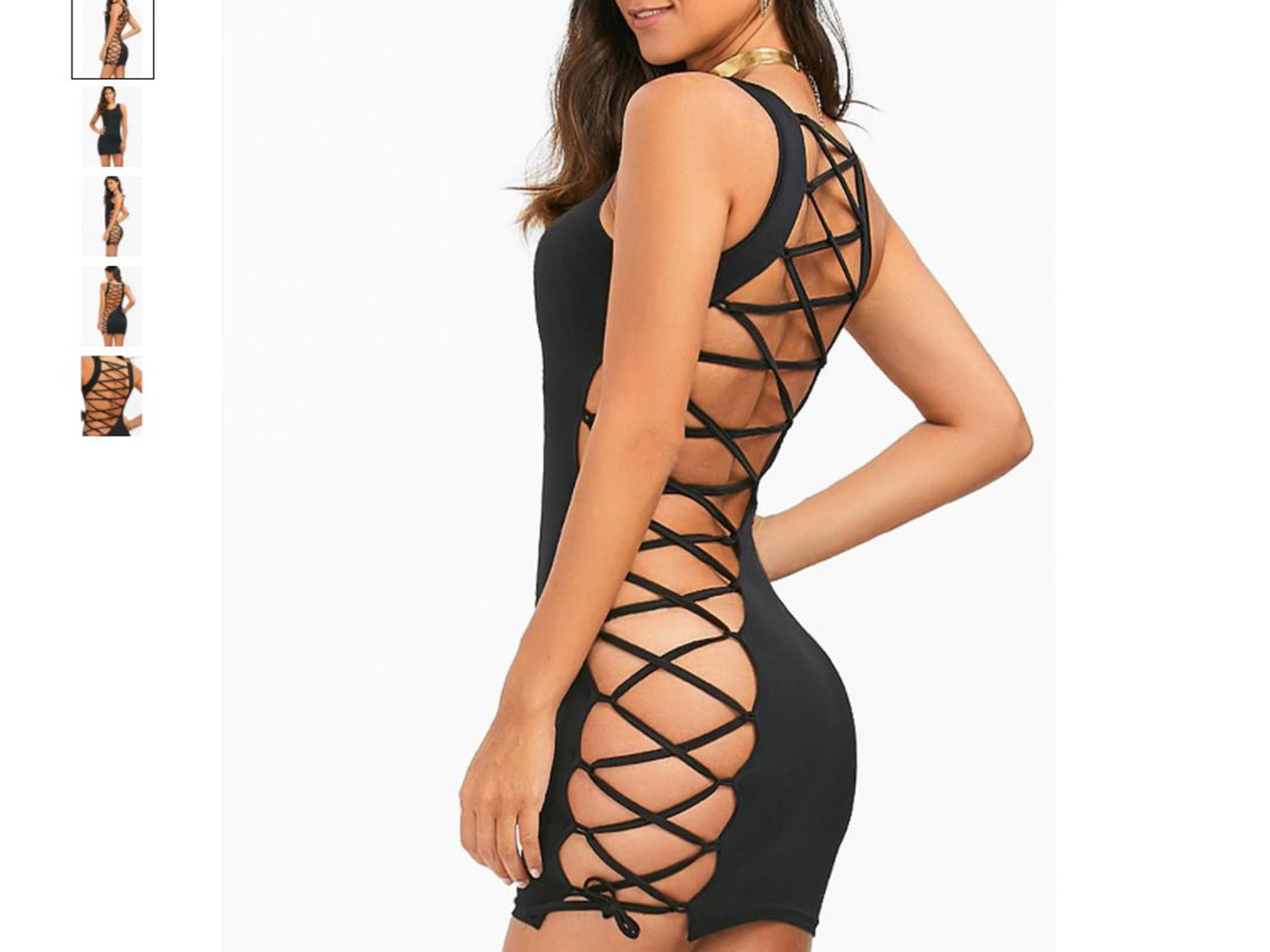 Revealing lace-up dress sparks outrage on Mumsnet: 'An accident waiting to happen'