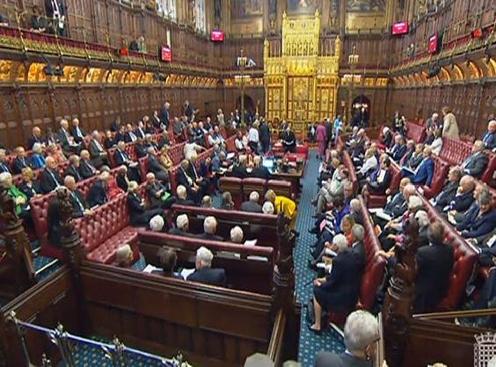 Around 90 such peerages remain in the House of Lords after most were abolished in 1990