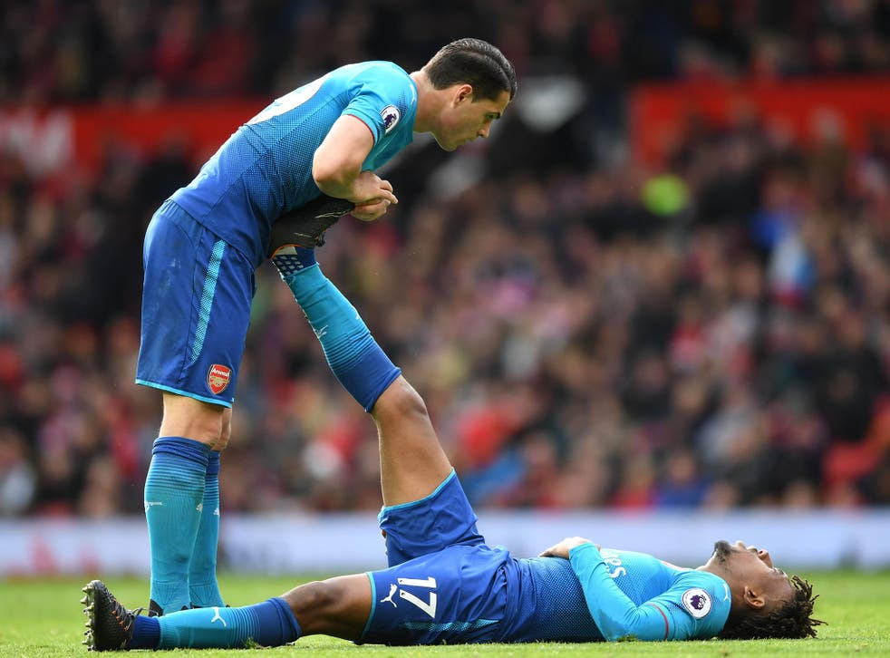 Alex iwobi is recovering from a knock picked up in Arsenal's 2-1 defeat by Manchester United