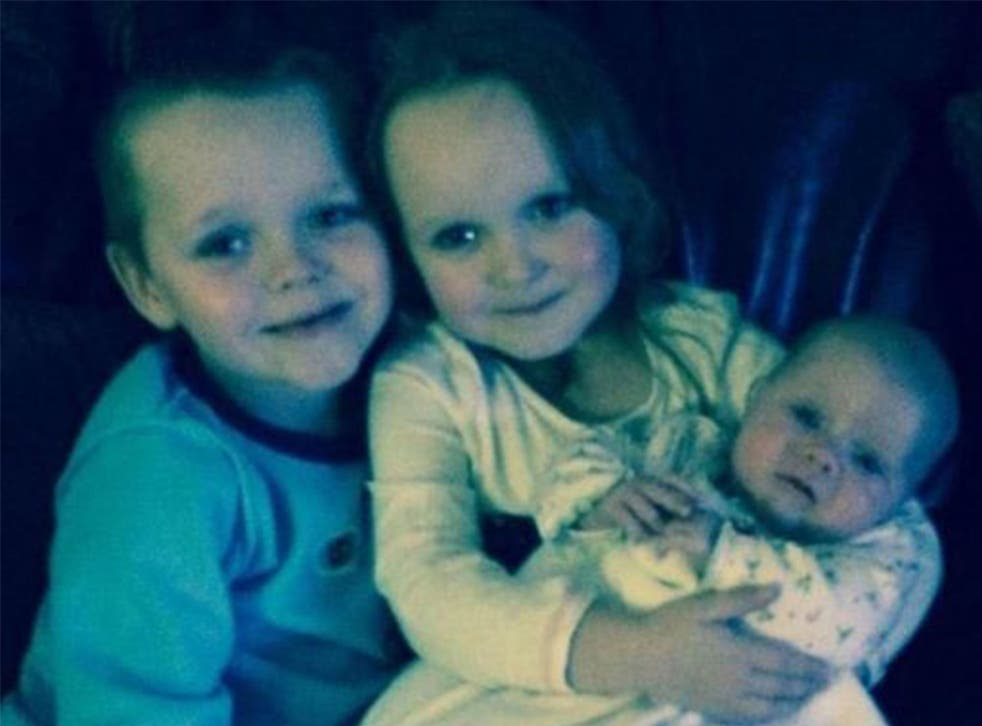 Brandon (left), Lacie (centre) and Lia Pearson all died as a result of the fire in December last year