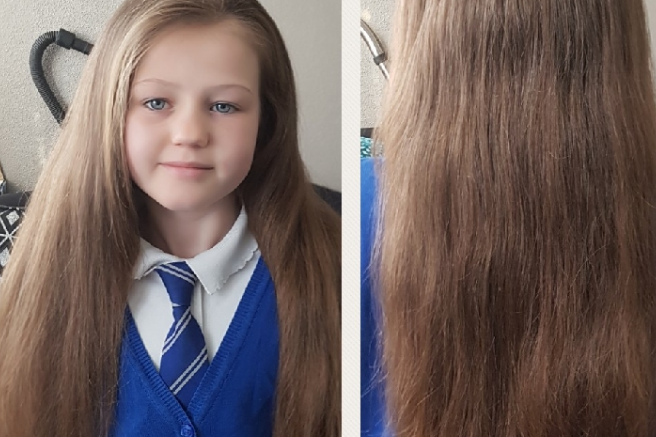 Nine Year Old With Princess Hair Donating It To Make Wigs The