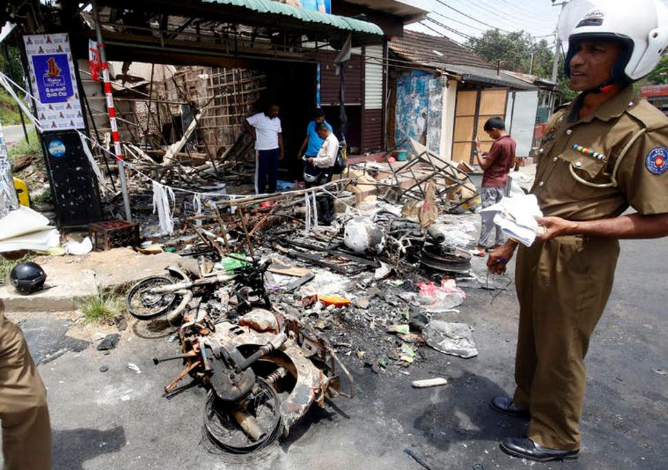 Hậu quả của các cuộc bạo lực chống người Hồi giáo ở Kandy, Sri Lanka (EPA)