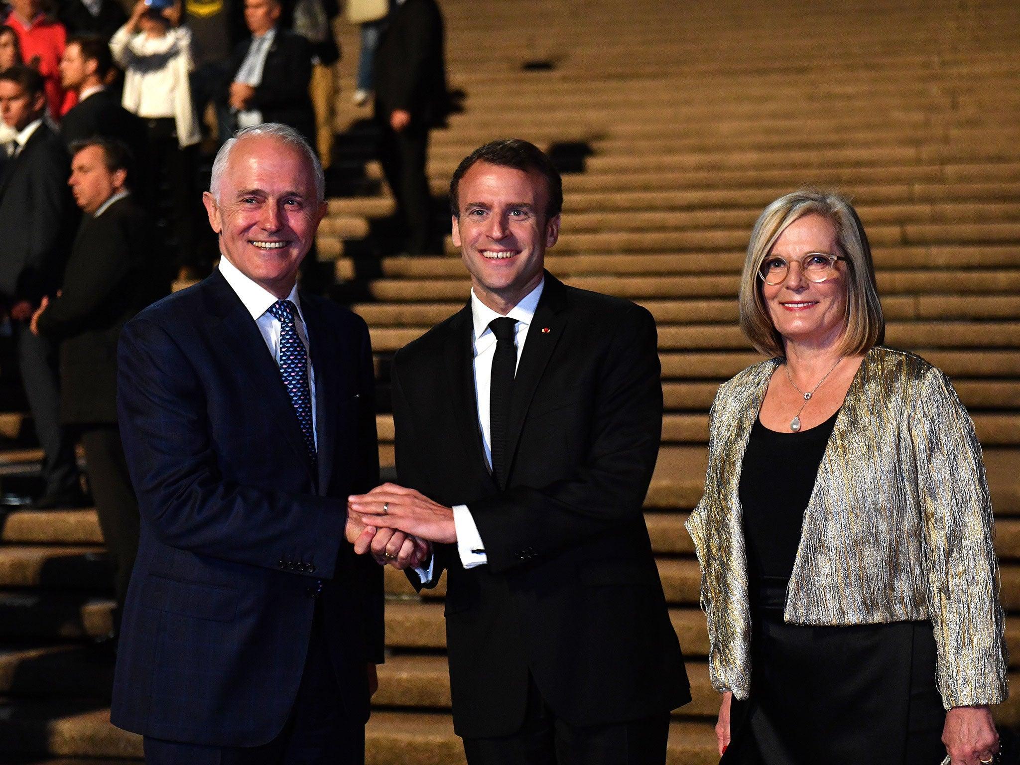 Macron calls Australian prime minister Malcolm Turnbull's wife 'delicious'