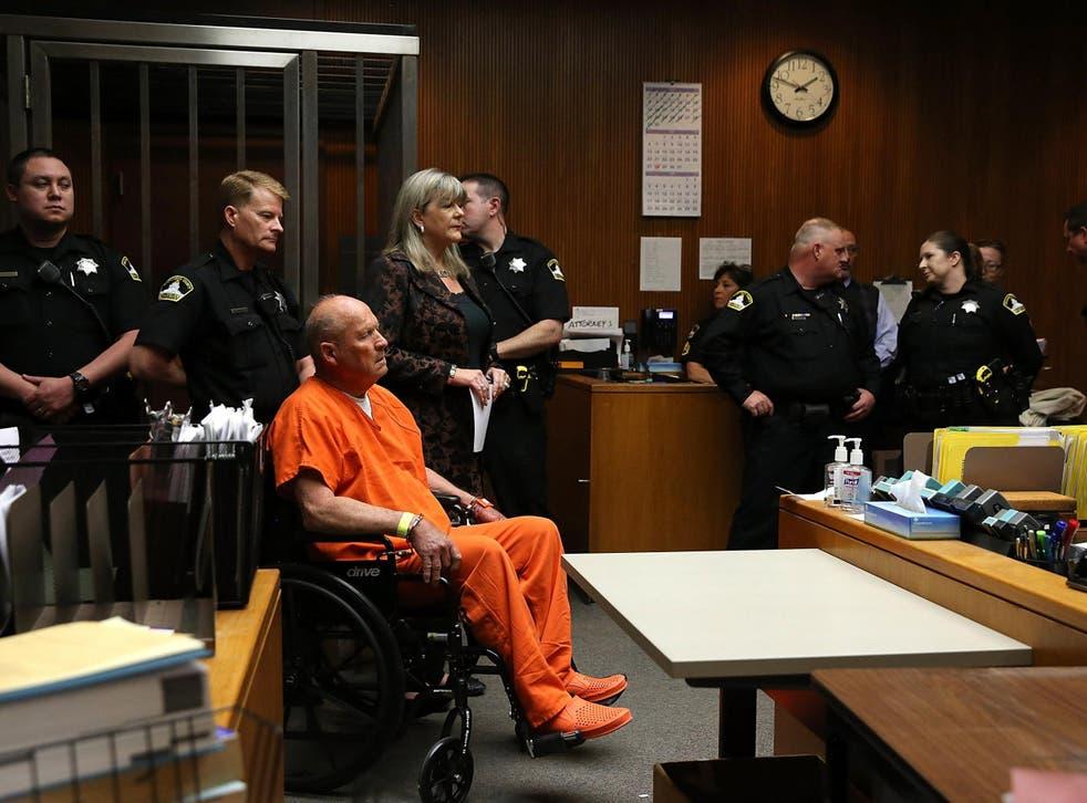 Joseph James DeAngelo, the suspected 'Golden State Killer', appears in court on April 27, 2018