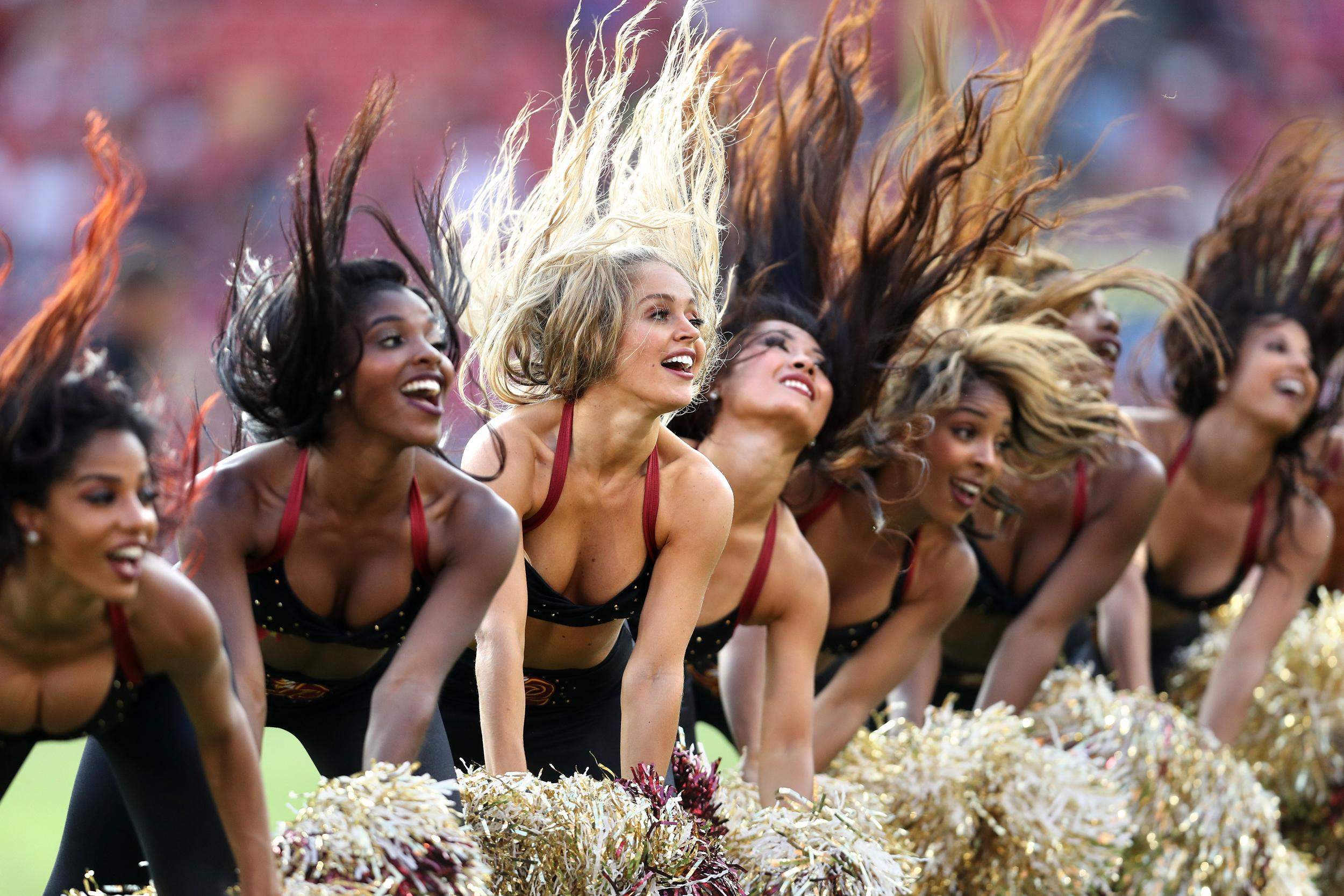 46cd6c2392627 NFL cheerleaders reportedly forced to pose topless in front of donors
