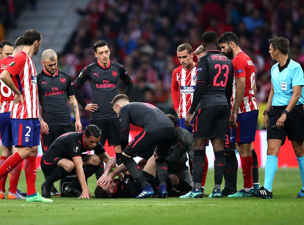 It is thought the injury is a ruptured Achilles