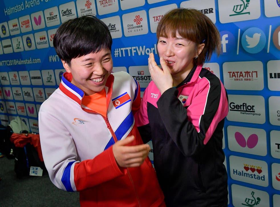 Kim Song I of North Korea and Suh Hyowon of South Korea