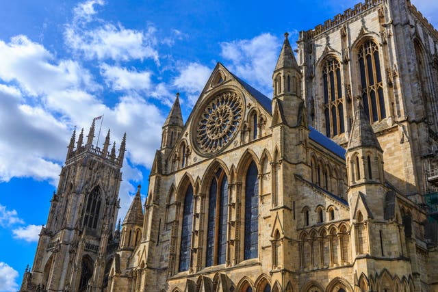 York Minster, the city's famous Gothic-style cathedral