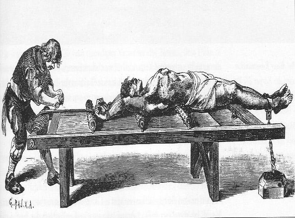 Torture on a rack: it's not just the nerves that were 'racked'