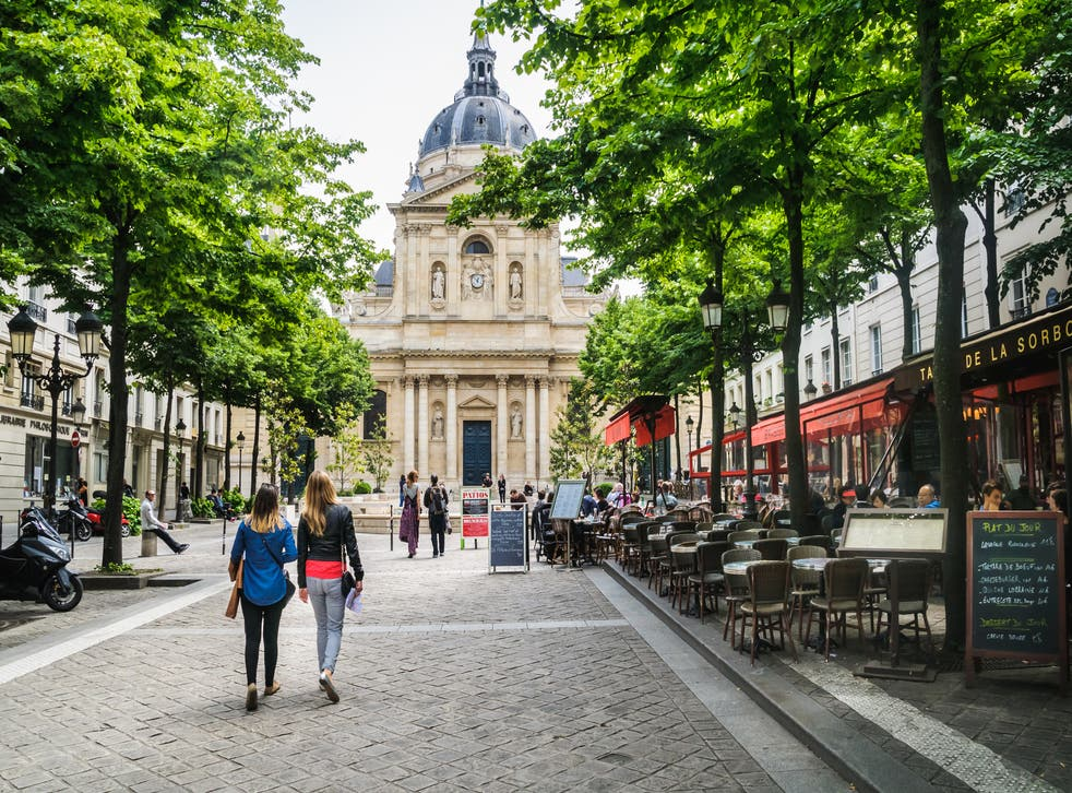 Place de la Sorbonne, in the Latin Quarter, is a lot quieter today than it was half a century ago this month