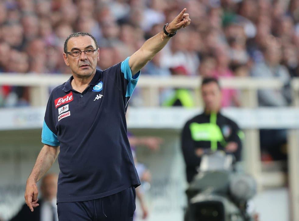 Maurizio Sarri has been linked with replacing Antonio Conte at Chelsea