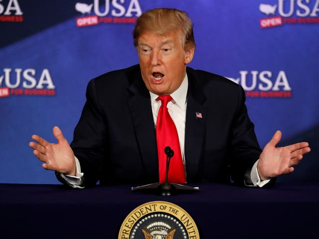 President Trump earlier slammed the UK and France's gun laws during a speech to the National Rifle Association Leadership Forum