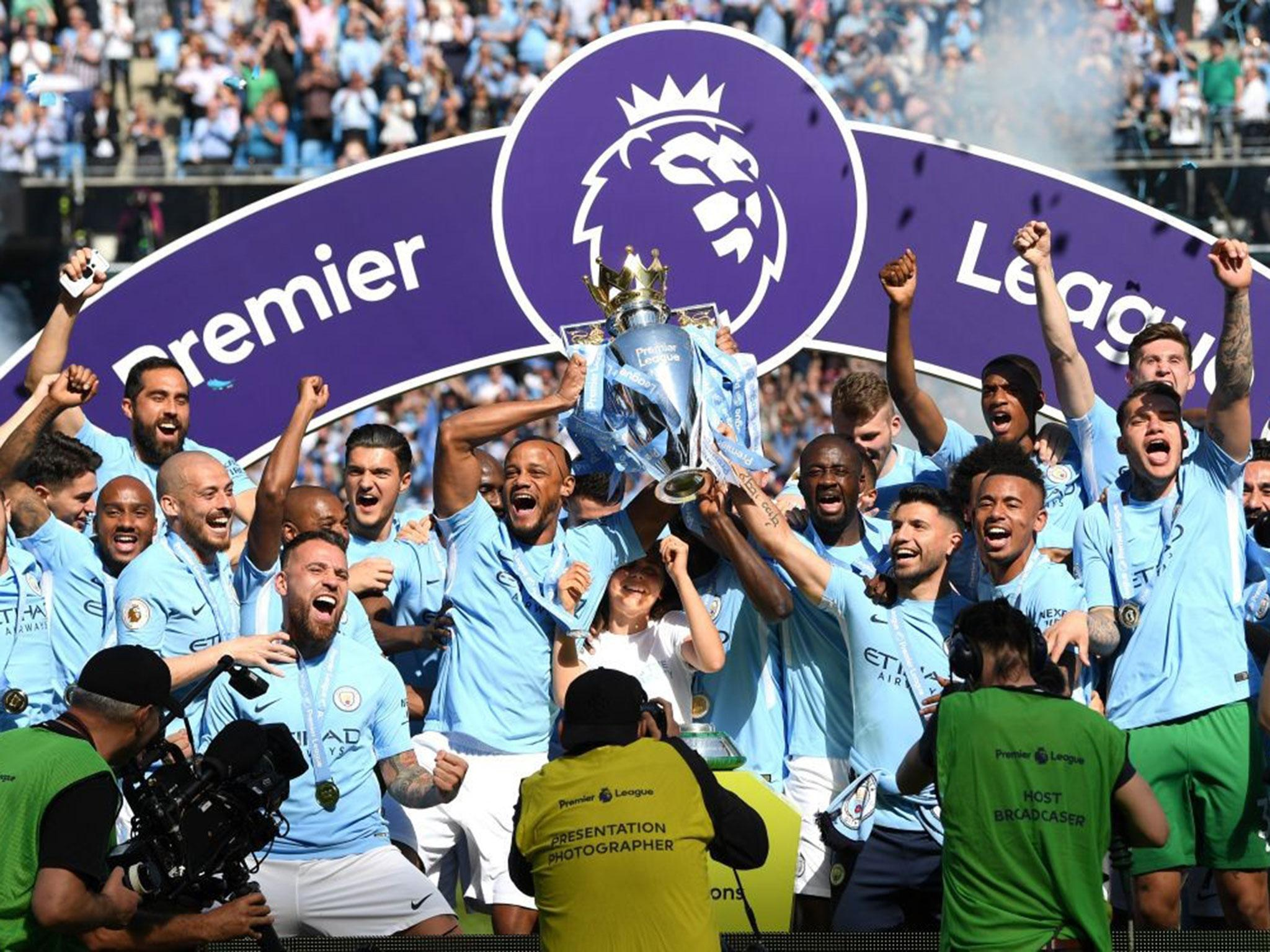 Image result for man city winning premier league