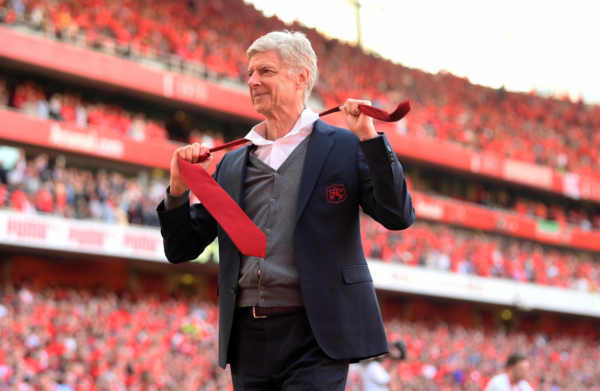 Arsene Wenger Departs The Emirates As Charming As Ever As He Jokes About Shouting At The Next Arsenal Manager The Independent The Independent