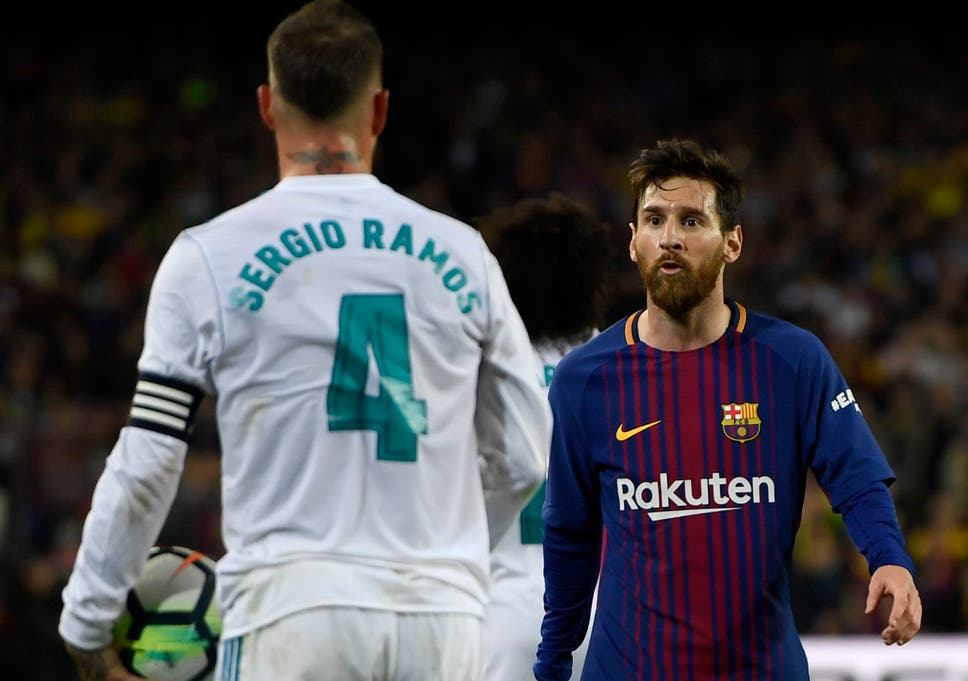 buy online 89e8c e253f Sergio Ramos accuses Lionel Messi of 'putting pressure on ...