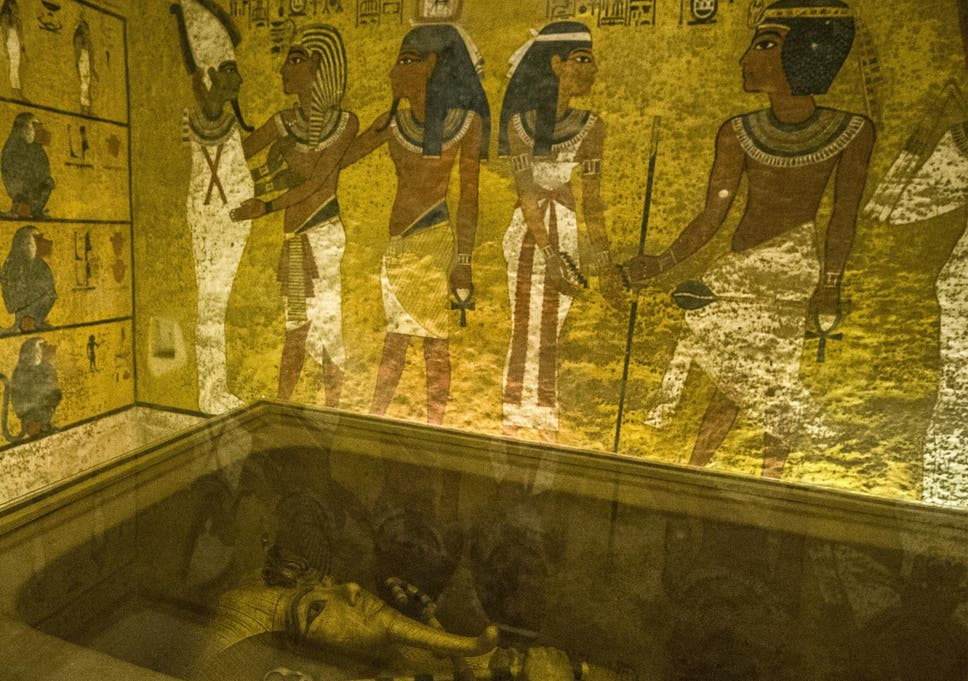 King Tutankhamun's burial chamber in the Valley of the Kings near Luxor, Egypt