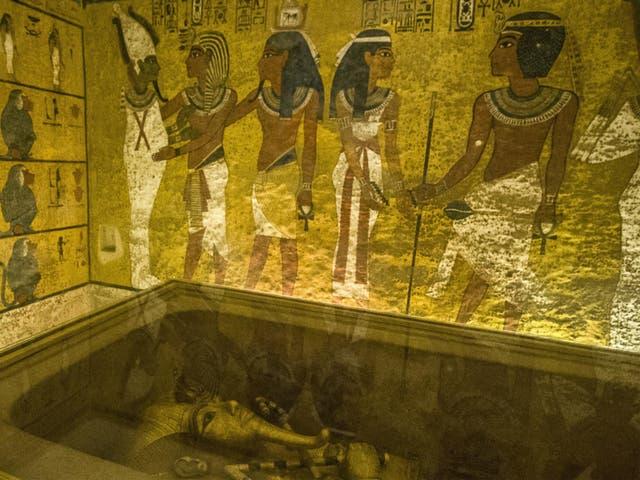 King Tutankhamun's burial chamber in the Valley of the Kings near Luxor, Egypt