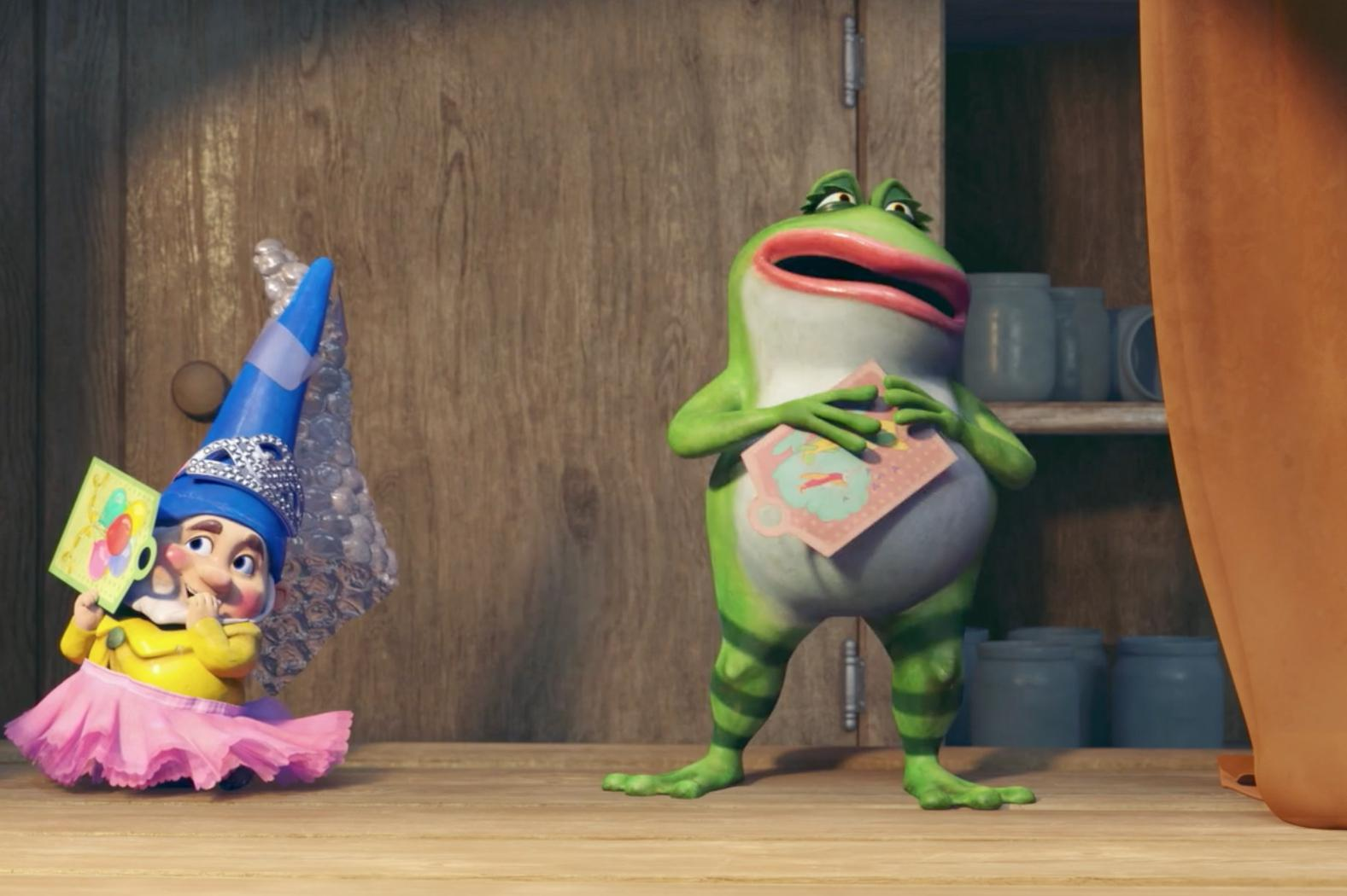 sherlock gnomes exclusive clip puts michael caine james mcavoy and
