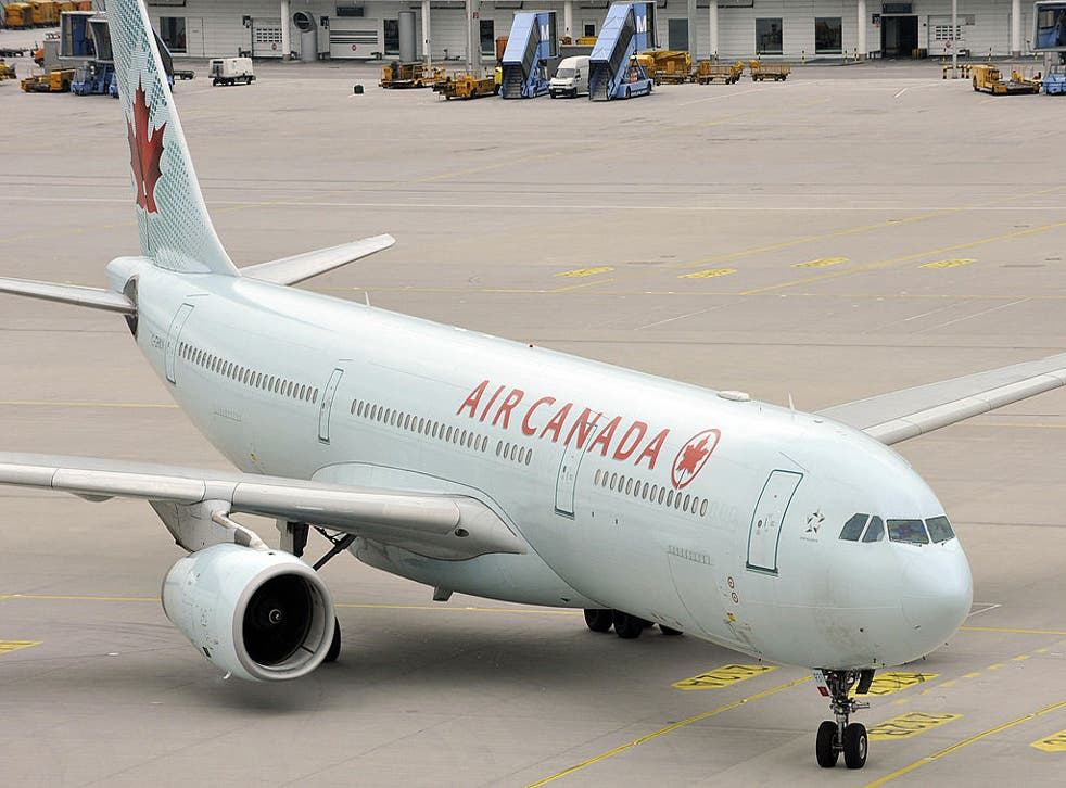 An Air Canada flight was forced to land in Ireland when a windscreen crack was discovered