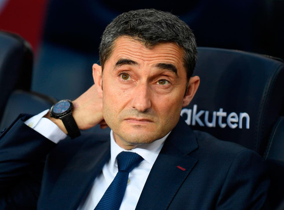 Valverde has guided Barcelona to the title in his first season in charge