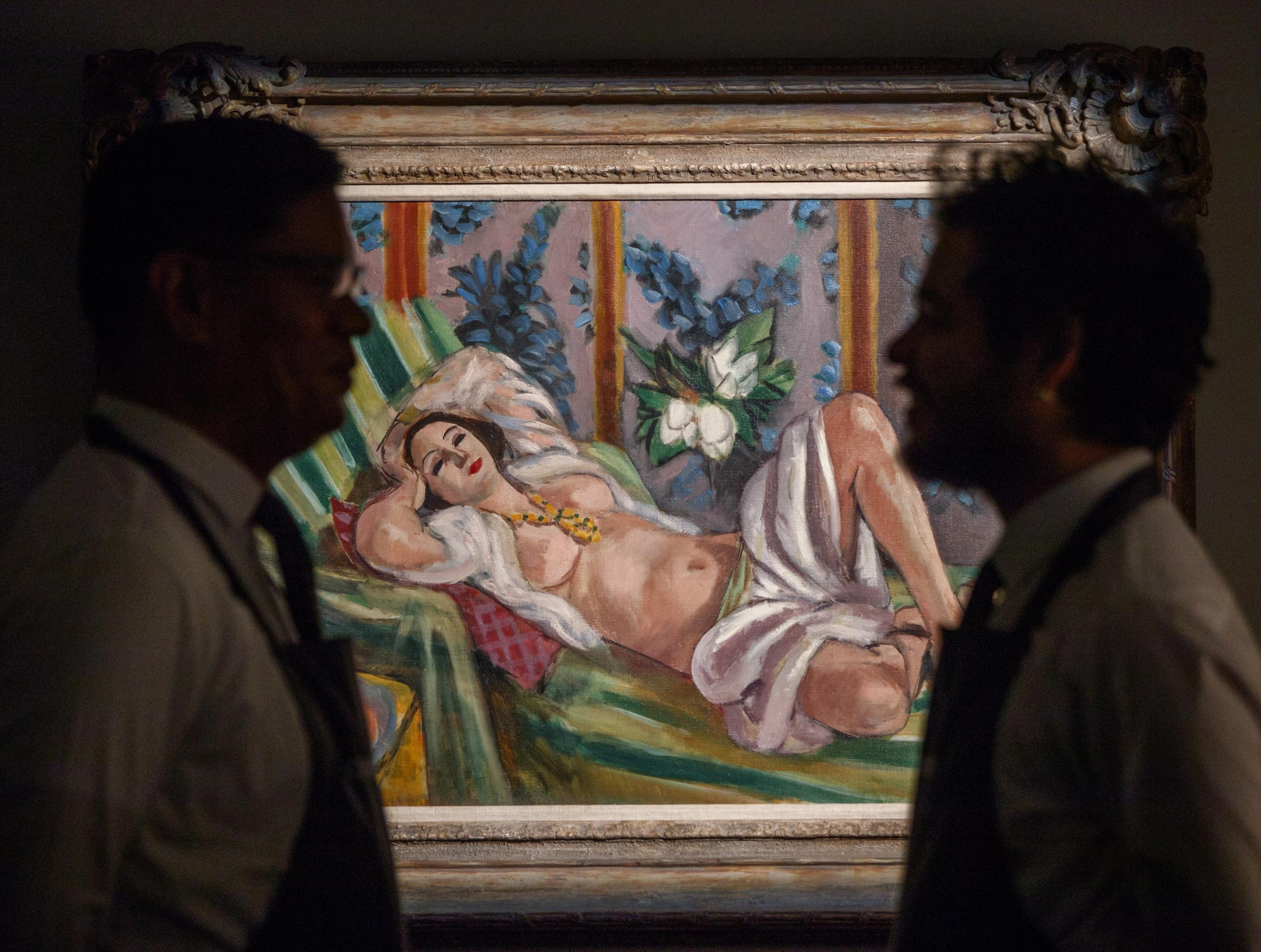Rockefeller auction fetches £476m on first night as historic art works sell for record prices