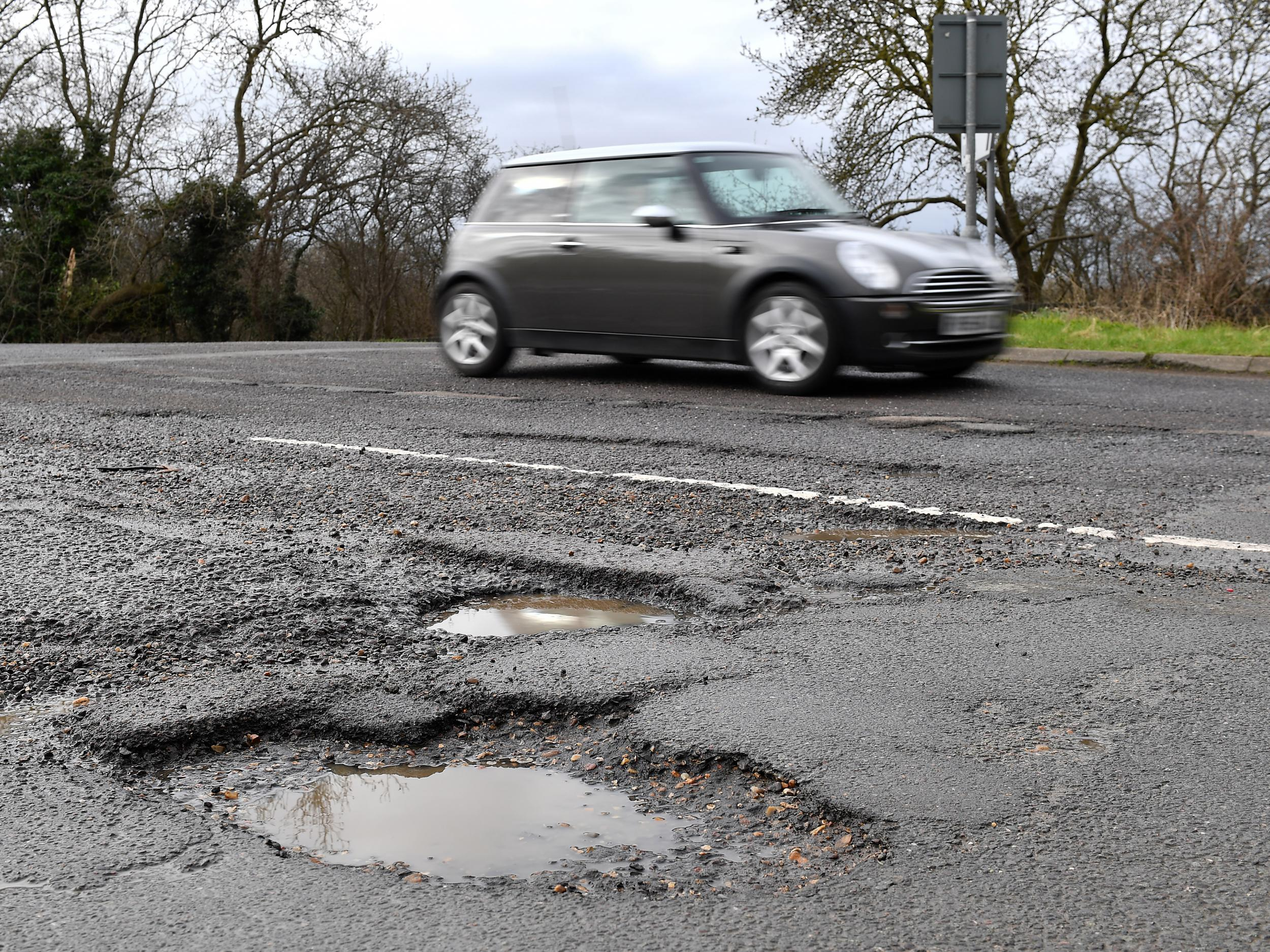 Budget will include £2.5bn for fixing potholes
