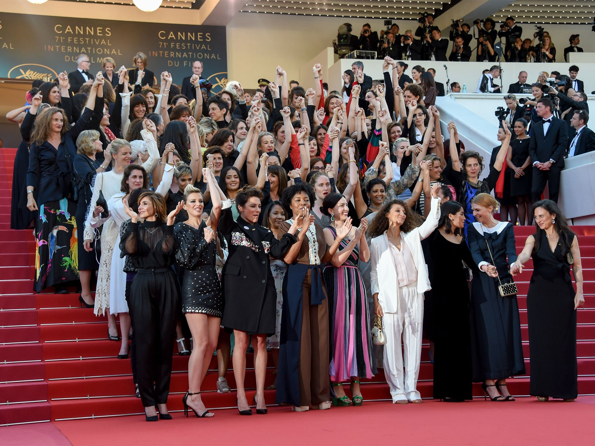 Cannes 2018: Cate Blanchett leads protest at French film festival after Hollywood sexual harassment scandal